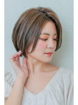 ミンクス 銀座店(MINX)大人可愛い★ひし形ショートボブ【銀座×30代】