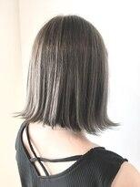フレイムスヘアデザイン(FRAMES hair design)切りっぱなし外ハネボブ×ハイグレージュ