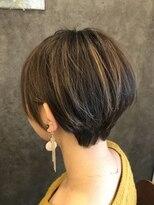 グラシア ヘア(gracia hair)グラデカラーショートボブ