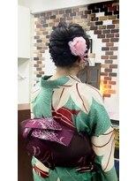 サロンド クラフト(salon de craft)【浴衣】編み込みバックサイドフルアップスタイル♪
