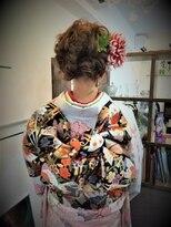 ティモーネ(Timone)成人式の振り袖着付けorアップスタイル