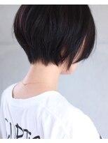 「&-hair」大人カジュアル暗めボブ