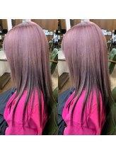 ヘアーサロン リバース(Hair Salon Rebirth)【防府/Rebirth】ピンクアッシュ×ダークグレー