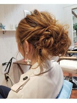 ヘアーアンドネイルアンカーバイラフ(Hair & Nail anchor by Laf)お呼ばれアレンジ☆