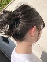 マイ ヘア デザイン(MY hair design)*チラ見えカラーも生かすお団子hair*