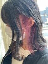 クラシコ ヘアー(CLASSICO hair)ローズピンク×イヤリングカラー