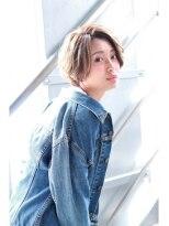 ヘアサロンエムピーズ イケブクロ(HAIR SALON M P's 池袋)アビスベージュ☆ショートボブ