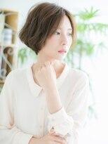 ココデサロン ハナレ 浅草(cocode salon HANARE)【浅草美容院HANARE】カーキベージュの小顔クールショート♪c