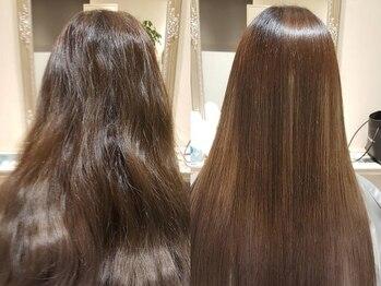 ユリエス(JU.LI.S)の写真/ハリスノフトリートメント導入!広がりうねり対策に◎クセに負けないサラ艶髪をGET!【髪質改善/南柏/柏】