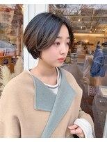 チカシツ(Chikashitsu)19ss 2tone short