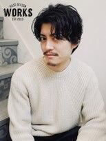 ワークス ヘアデザイン(WORKS HAIR DESIGN)外国人風メンズヘアパーマ大人カールスタイル