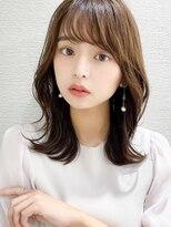 Silk-lei吉祥寺/小顔カットの韓国ヘア,前髪ピンクベージュ