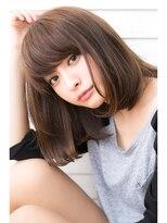 【drive for garden西川真矢】愛され女子の透け感シンプルボブ