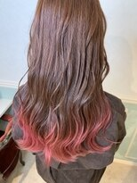 ヘアーサロン リアン 熊谷2号店(hair salon Rien)グラデーションフラミンゴピンク♪
