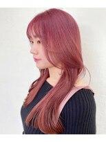 シーク(seek)【MAYU】韓国くびれヘア×peach pink【長野 松本】