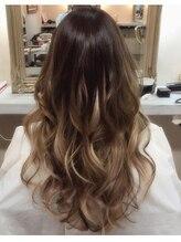 ララヘアー(LaLa hair)プルエクステでグラデーション2