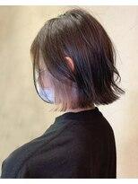 アッシュタカサキ(ash takasaki)小顔見せで大人かわいい☆暗髪×くすみピンクのインナーカラー