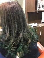 ヘアーメイク プリュム(Hair make Plume)gradation×グリーン