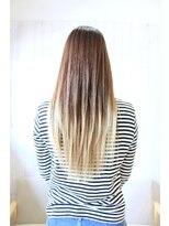 テオ ヘア(teo hair)ホワイトベージュ×グラデーション