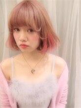 ミエルヘアーアンドスパ(miel hair&spa)◆miel◆初恋ピンク*ハイトーンボブ