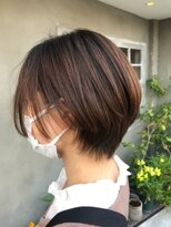 ナナナパレナ 心斎橋店(nanana parena)襟足すっきり大人くびれショート爽やかアッシュ艶髪