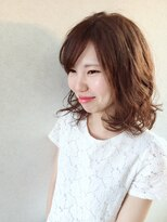 美容室 フィール(Feel)ふんわりミディアムスタイル☆