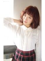 ビヨンドイー(beyond E)【艶カラー☆】ナチュラルボブ◇ピンクブラウン