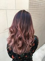 ヘアーデザイン アコースティック(Hair Design ACOUSTIC)レッドバレイヤージュカラー