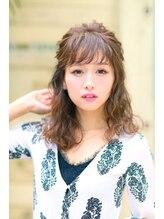 ヘアメイクサロンシャルメ(Hair Make Salon CHARMER)二次会に☆★おでかけハーフアップ♪へアセット