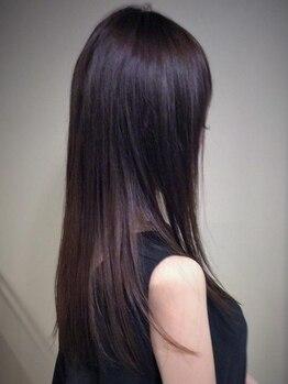 タウ(TAU)の写真/「エアストレート」ノンアイロンの縮毛矯正。ダメージレスで自然な仕上がりに!極上のサラツヤストレート☆