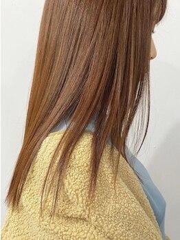 ハフ(HAFU)の写真/【カット+縮毛矯正¥18000】驚きの手触り,質感♪ダメージの少ないケアストレートで芯まで潤いたっぷり美髪に