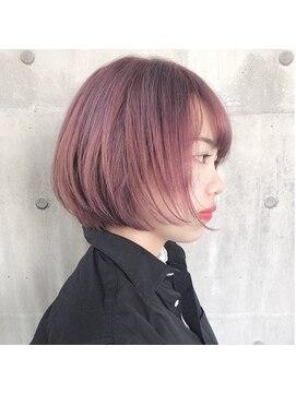 ピンクカラー ショートボブ L027126556 オーイット Ooit のヘア