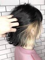 黒髪風×インナーカラーベージュ