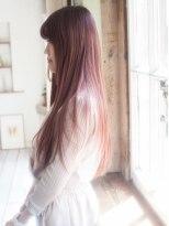 秋艶のチェリーピンク♪大人セクシーゆるかわストレート☆