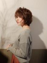ムーン(moon)モテ髪♪ラフな軽さと動きのあるショートスタイル☆ サイド
