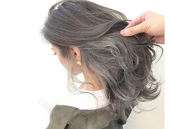 アンジュールクレア(UN JOUR CREA)の写真/☆当店人気NO1☆【カット+透明感カラー+髪質改善ヘアエステ¥8000~】でお得にキレイになれる♪