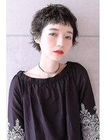 【Blanc】黒髪 × ショート × パーマ