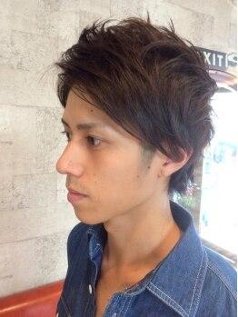 ルチア(HAIR&MAKE LUCIA)の写真/【江坂】確かな技術でONでもOFFでもキマるカジュアルstyleに!自宅でもカッコよく再現できるラクさが魅力!