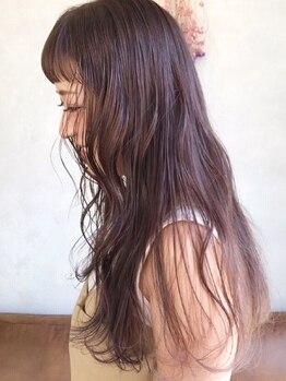 リムノン(LIMNON)の写真/【西鉄福岡駅徒歩1分】日差しに透けるような透明感のカラーも、ダメージレスでうるつや仕上りに!色持ちも◎