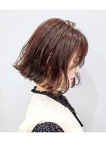 エイム ヘアメイク 横川店(eim HAIR MAKE)切りっぱボブ×チェリーピンク