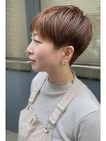 美シルエット/まるみショート/オレンジカラー/モテ髪カタログ/柏