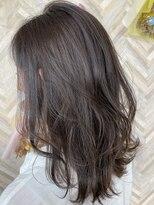 ヘアーシー(HAIR C,)ダークグレージュミディアムスタイル