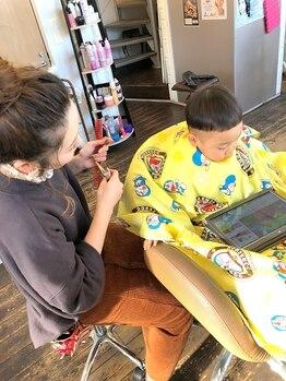 ヘアースペース サイ(Hair Space SAI)の写真/【キッズスペースあり】忙しいママやパパも安心して通える!お子様連れでOK♪ご家族で来店できるサロン*