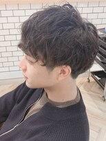 ローマ ギンザ(ROMA Ginza)【ROMA浅井】爽やかツーブロック/束感スパイラルパーマ/モテ髪