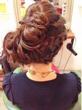 ブリッジ ヘアー(BRIDGE hair)編み込み・ねじり ふんわりサイドアップ