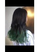 チクロヘアー(Ticro hair)ticrohair大石グラデーショングリーン