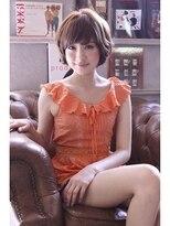 マニッシュ系のLAUREN☆外国人風☆グレージュマニッシュショート tel0112328045画像