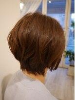 ヘアー カラー キー(HAIR color KEY)艶ショートボブ
