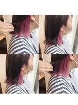 ヘアーメイクチック(HAIR MAKE CHiC)グレーxベリーピンク