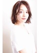 ウル(HOULe)【30歳からの大人可愛いヘア】ラフな質感♪ミディアムボブ☆